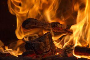 Feuerfeste Unterlage für Kaminofen